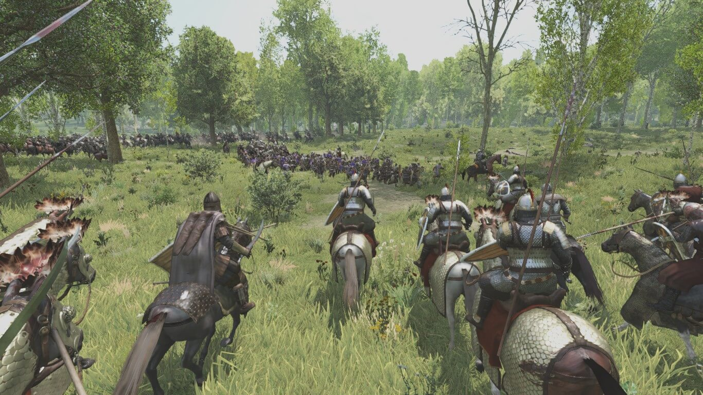 Cavalry charge in Bannerlord