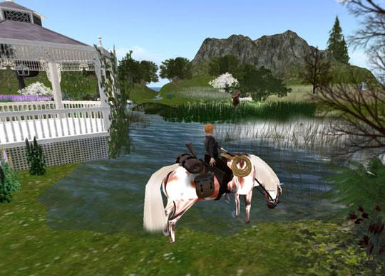 Second Life: Beautiful sceneries that you can explore with your horse