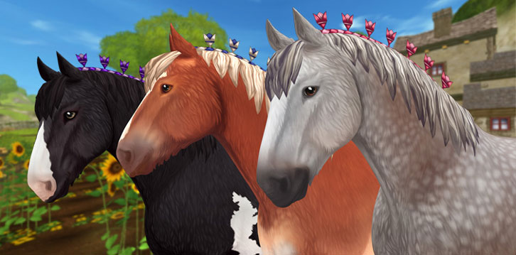 Three New Clydesdale Horses Join the Pack in Star Stable