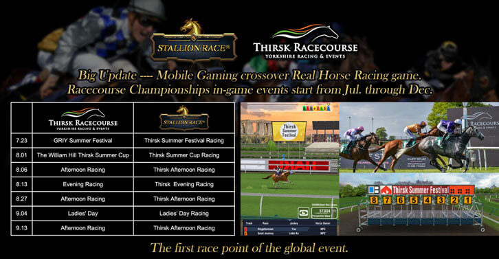 Stallion Race's Innovative Partnership with Thirsk Racecourse Synchronizes Real and In-Game Events
