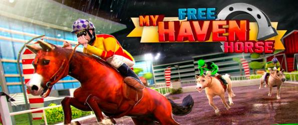 My Haven Horse Racing -  Gallop, crash through obstacles, and sprint in the track to receive powerups in highly thrilling races to claim your place on the podium.