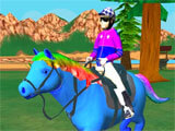 Speed Pony: Racing Game picking a pony