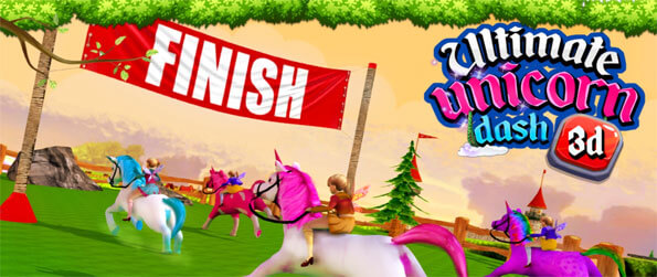 Ultimate Unicorn Dash 3D - Enjoy this phenomenal horse racing game that'll have you glued to your mobile phone.
