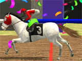 Horse Derby Racing 2020 crossing the finish line
