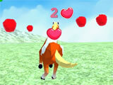 Forest Horse Simulator collecting apples