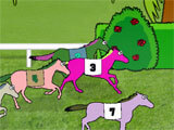 Hooves of Fire Horse Racing Game intense race