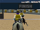 Offroad Horse Racing 3D intense race