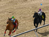 Triple Throne Horse Racing intense race