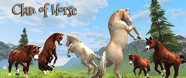 Clan of Horse - Whilst you get to play as a horse, take the challenge of surviving the wild, as you get fazed with different aggressive creatures out in the open to gain experience with, in Clan of Horse.