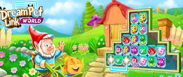 Dream Pet Link World - Enjoy a cute pet matching game free on Facebook.