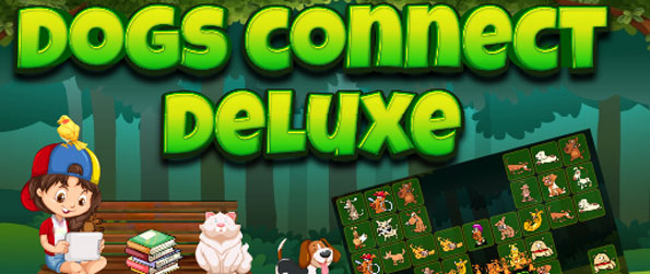 Cães Conectar Deluxe - Have fun connecting cute cartoon dogs in this connect game!