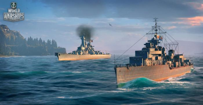 A pair of Destroyers in World of Warships