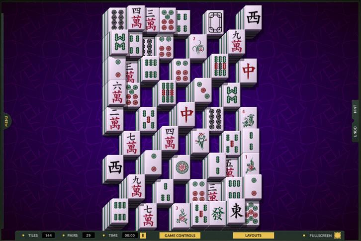 Kumo layout in TheMahjong.com