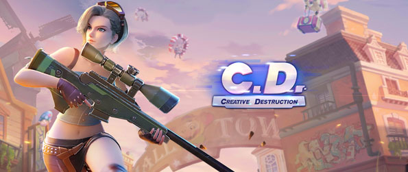 Creative Destruction - Parachute onto a massive 4 by 4 map and outlast your opponents in this battle royale game!