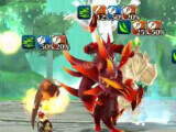 Fighting monsters in Valkyria Connect