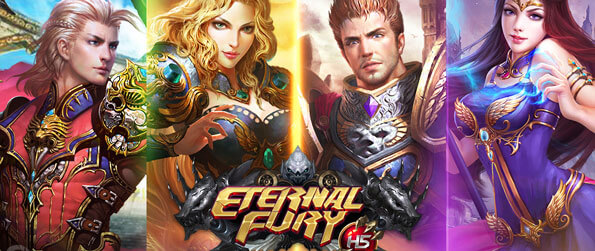 Eternal Fury H5 - Recruit and deploy powerful soldiers and mercs and battle various monsters in this casual browser RPG!
