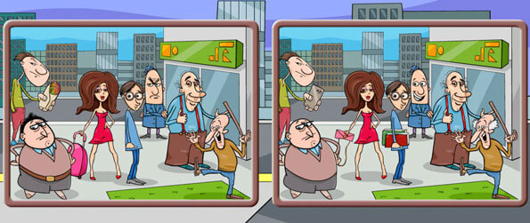 Spot the Difference: City - Can you find all 5 differences in each city-themed picture?