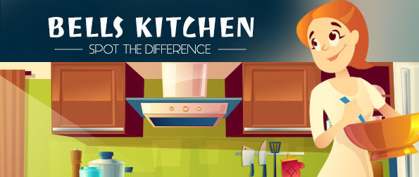 Bell's Kitchen - Find all 5 differences in this fun yet challenging spot-the-difference game!