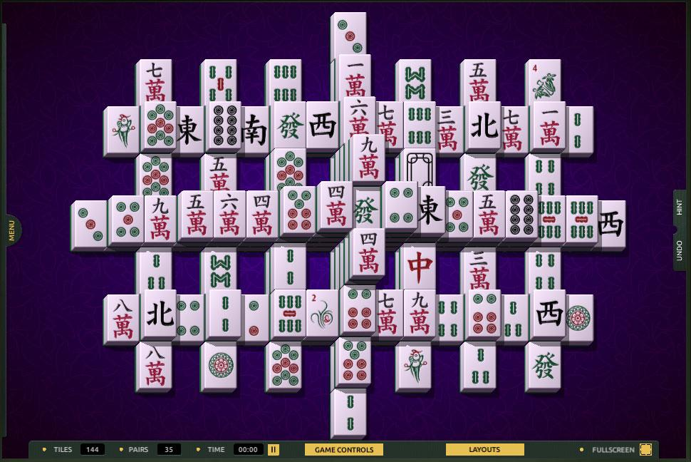 Lattice layout in TheMahjong.com