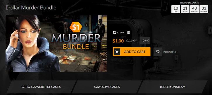 Fanatical's Dollar Murder Bundle