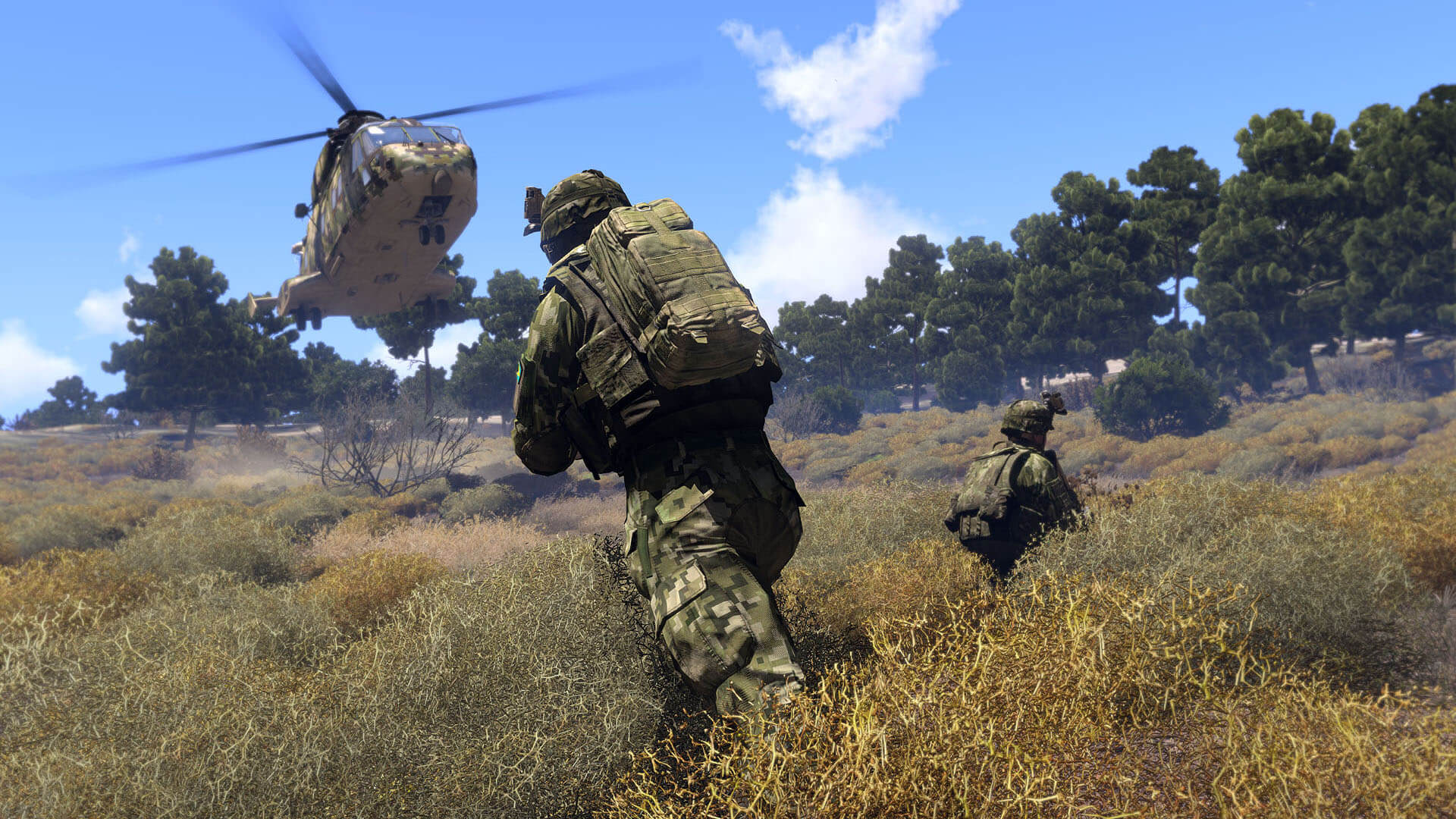 Arma III is a good example of a fairly realistic shooter