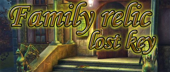 Family Relic - Lost Key - Help a man collect the broken parts of his family relic, an ancient key, in various scenes in this classic hidden object game, Family Relic - Lost Key.