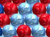Red, Silver and Blue Bubbles in Magic Bubble 3D