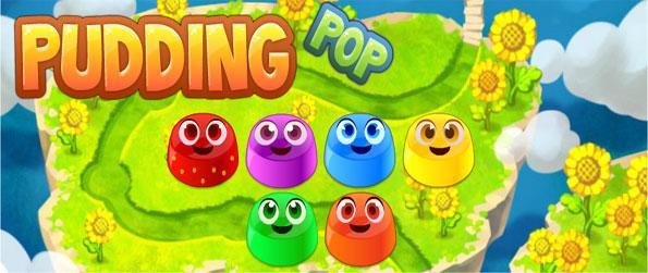 Pudding Pop - Line up these cute and colourful little puddings in this amazing new free Facebook Game.