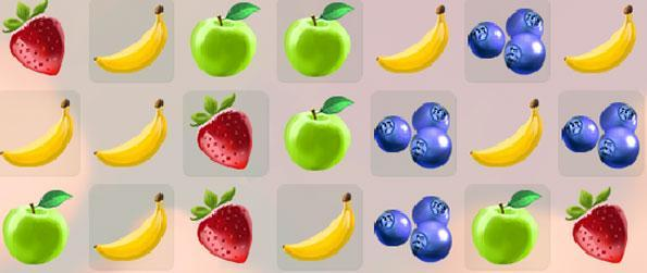 Smoothie Swipe - Make lines of fruits as you match them together in this new game on Facebook.