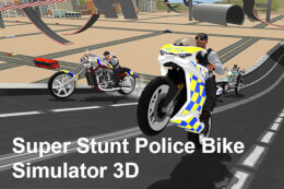 Super Stunt Police Bike Simulator 3D thumb