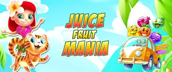 Juice Fruit Mania - Enjoy a fun match 3 game full of sweet treats.