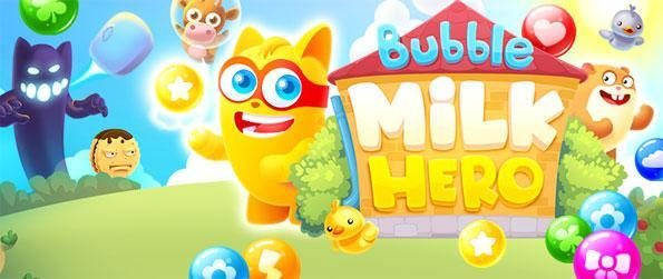 Bubble Milk Hero - Enjoy a unique new bubble shooter with lots of fun twists.