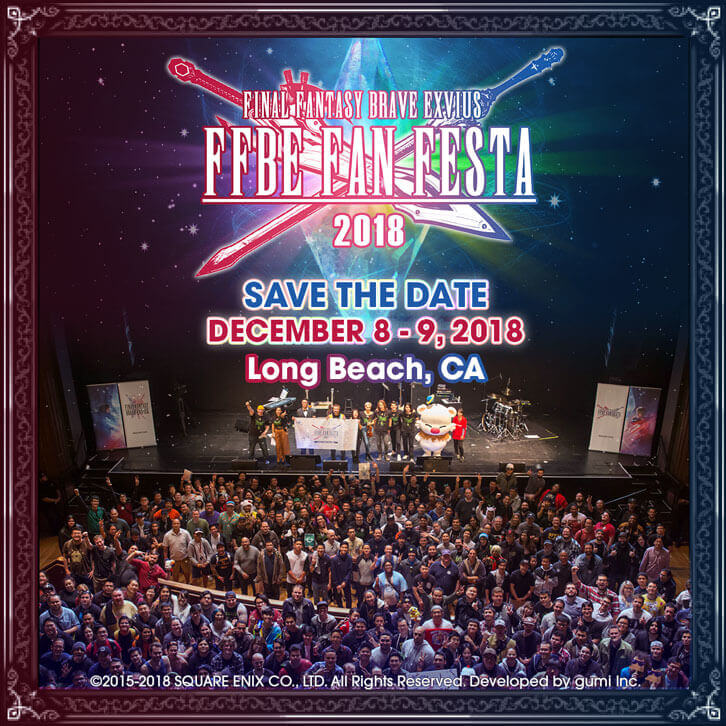 Final Fantasy Brave Exvius Fan Festa 2018 Announced for 8th - 9th December