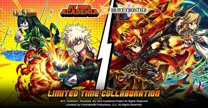 My Hero Academia Collides With Brave Frontier