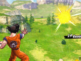 Goku fighting Krillin in Dragon Ball Legends