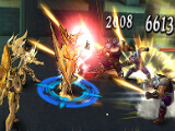 Fighting enemy units in Saint Seiya Cosmo Fantasy