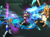 New team attacking enemy units in Saint Seiya Cosmo Fantasy