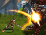 Attacking enemies in Tales of Erin