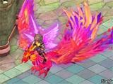 Gameplay image with a Phoenix mount from Crystal Saga