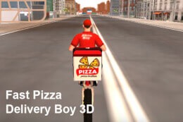 Fast Pizza Delivery Boy 3D thumb