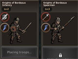 King's Blood: The Defense different units