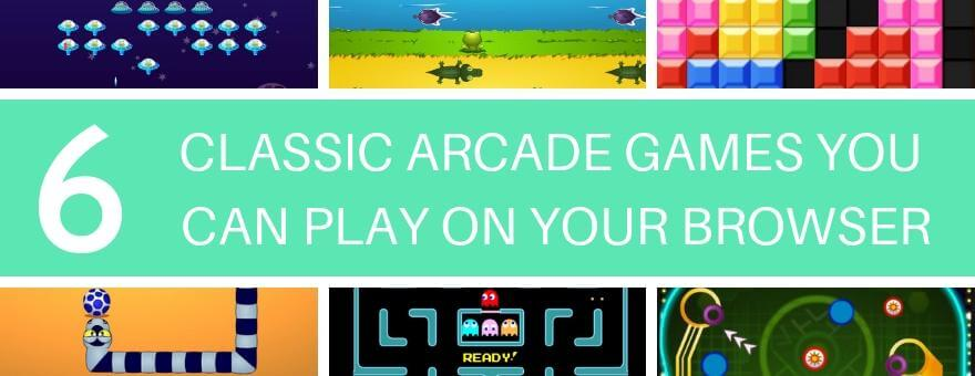 6 Classic Arcade Games You Can Play on Your Browser large