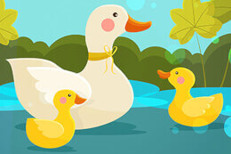 Mother Duck and Ducklings Jigsaw thumb