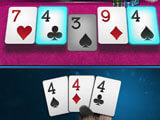 Three-of-a-kind in HD Poker: Texas Hold'em