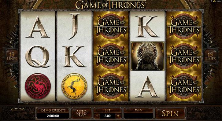 Game of Thrones slot - gameplay