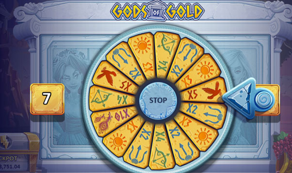 Wheel of Fortune in Gods of Gold