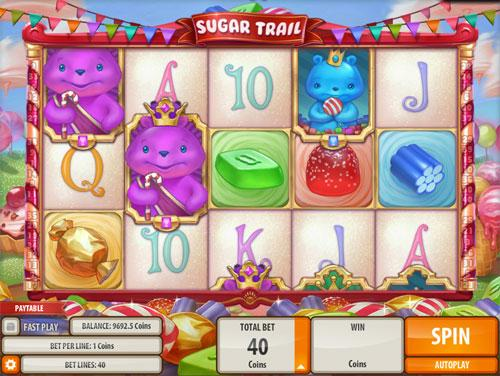 Cute Sugar Trail Machine in Mirrorball Slots
