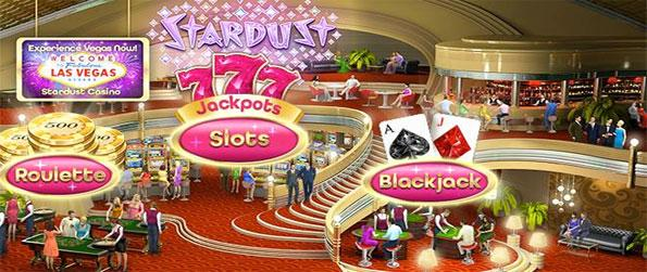 Stardust Casino - Enjoy 3 different games in a fantastic quality casino game free on Facebook.