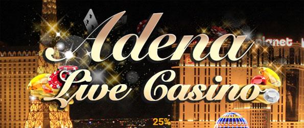 Adena Live - Play a totally one-of-a-kind casino experience - with a live banker.