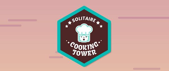 Solitaire Cooking Tower - Build your cooking tower one level at a time.